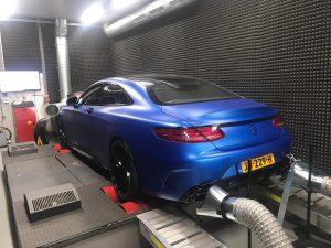 Chiptuning Mercedes Benz S63 CP rollerbank